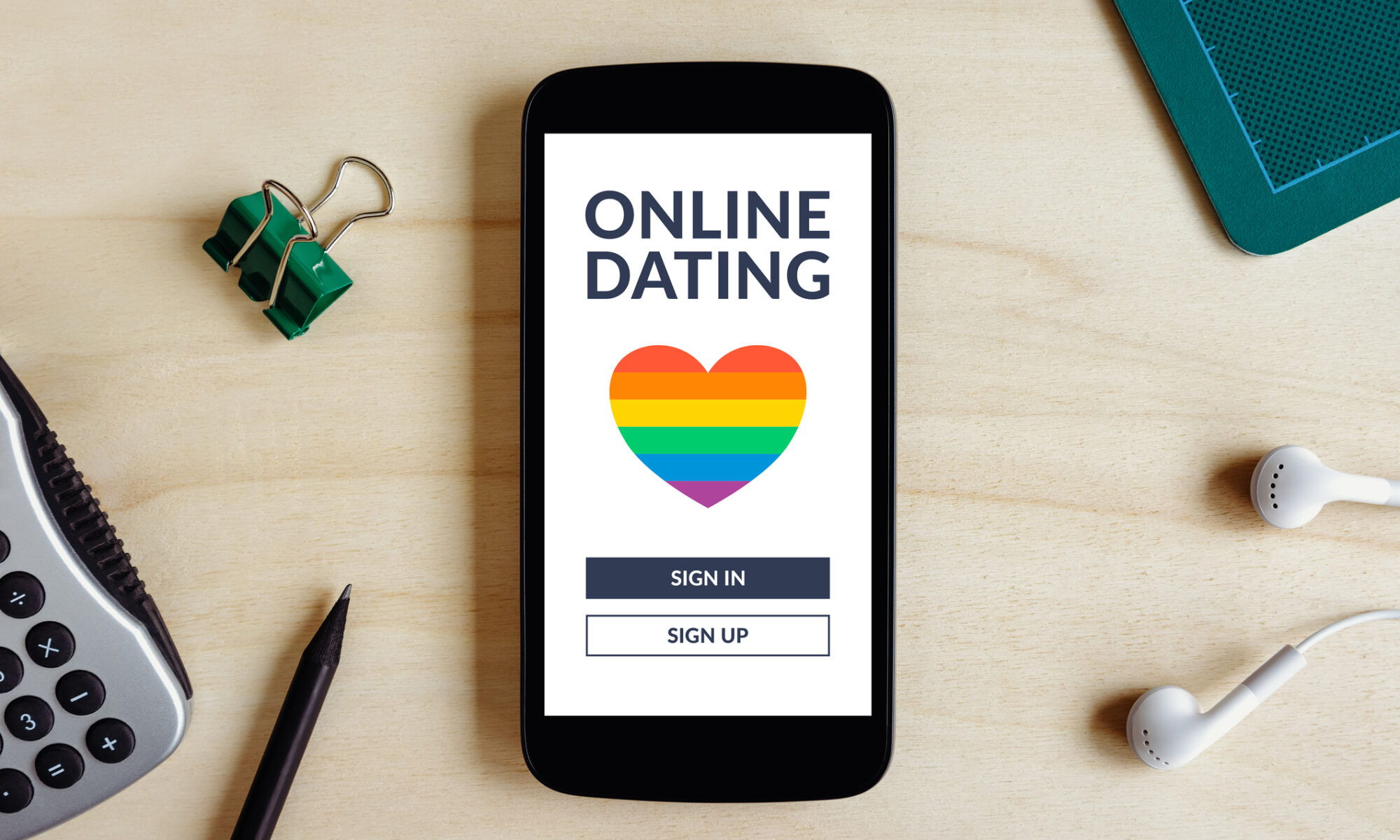 Smartphone mit Dating App