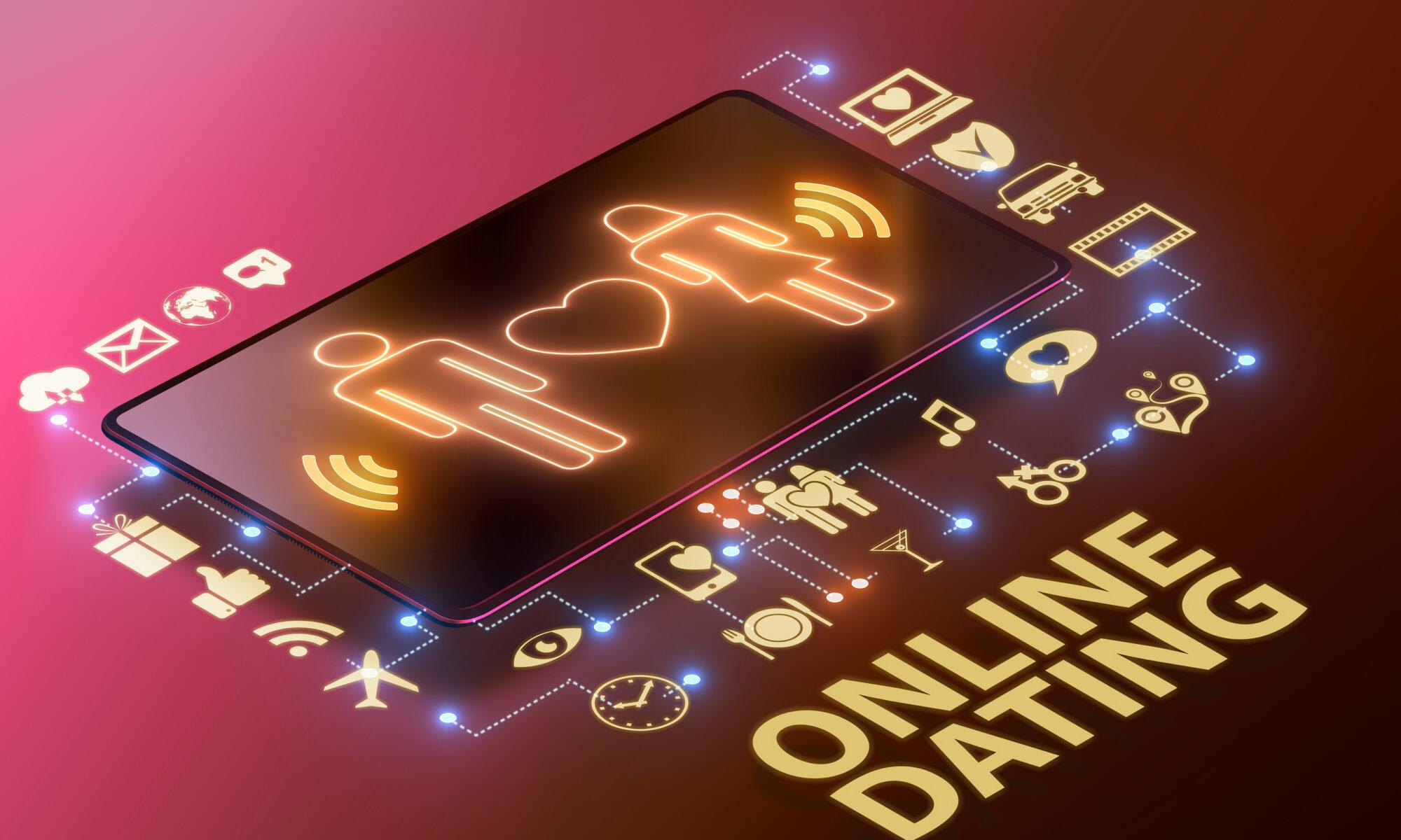 Singlebörse online Dating auf dem Tablet