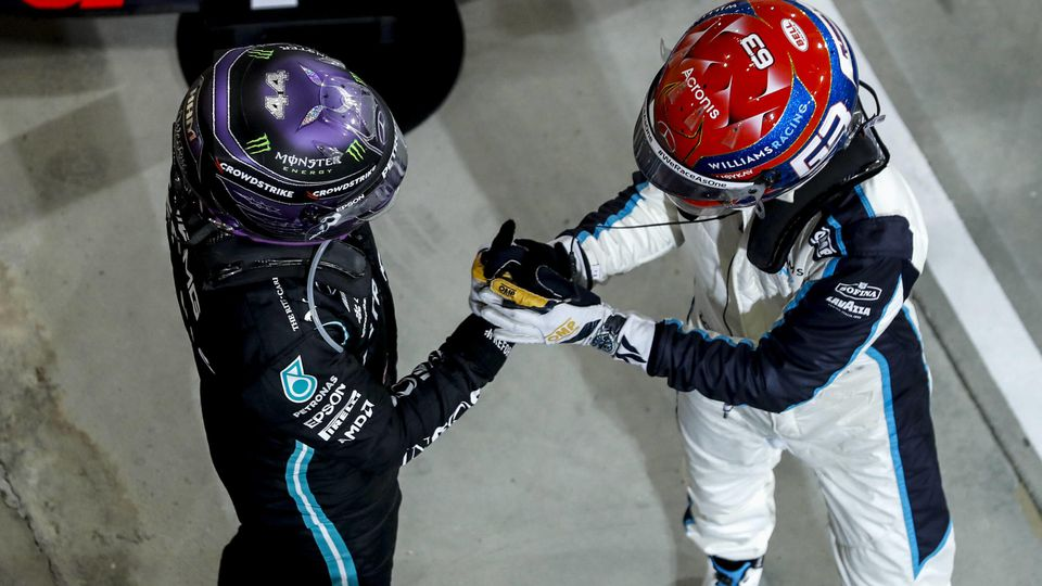 Formula 1 2021: Bahrain GP BAHRAIN INTERNATIONAL CIRCUIT, BAHRAIN - MARCH 28: Race winner Sir Lewis Hamilton, Mercedes