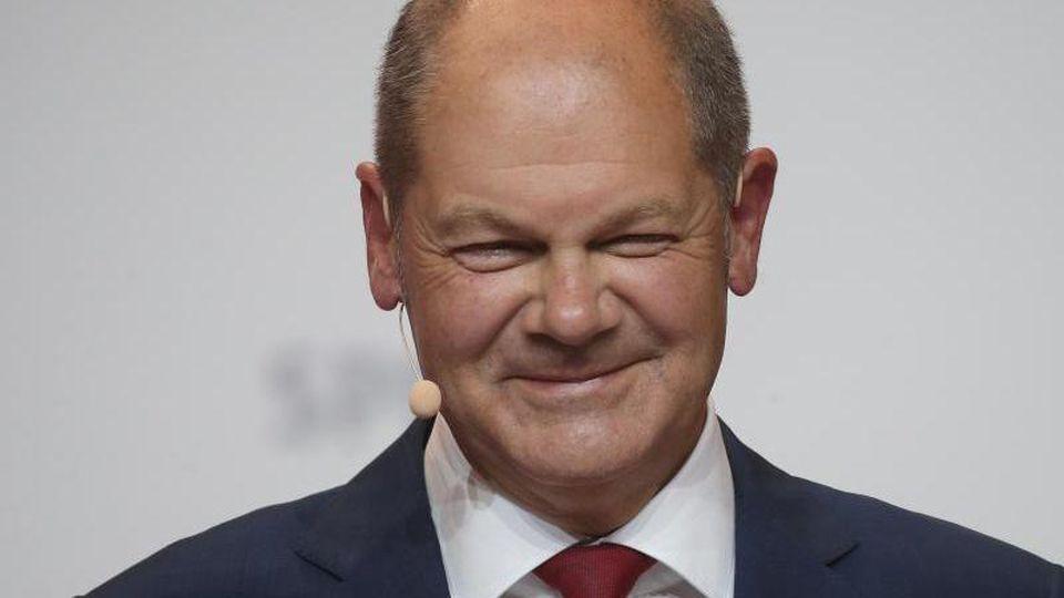 Die SPD hatte Vizekanzler Scholz am Montag zum Kanzerlkandidaten nominiert. Foto: Wolfgang Kumm/dpa
