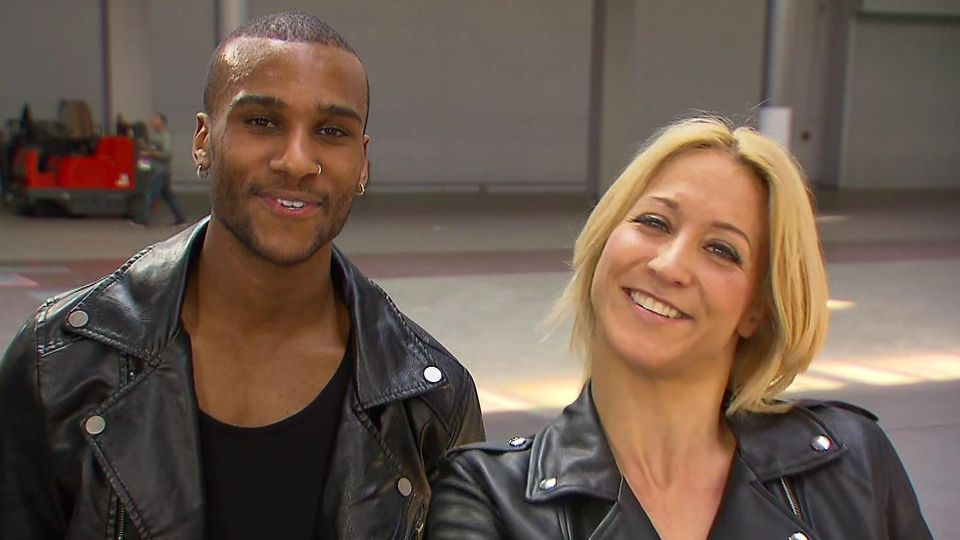 """Bei """"Let's Dance"""" tanzte Kathrin Menzinger dieses Jahr mit  Tijan Njie"""