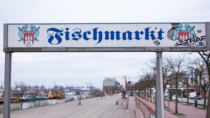 Der Fischmarkt ist menschenleer. Foto: Daniel Bockwoldt/dpa/Archivbild