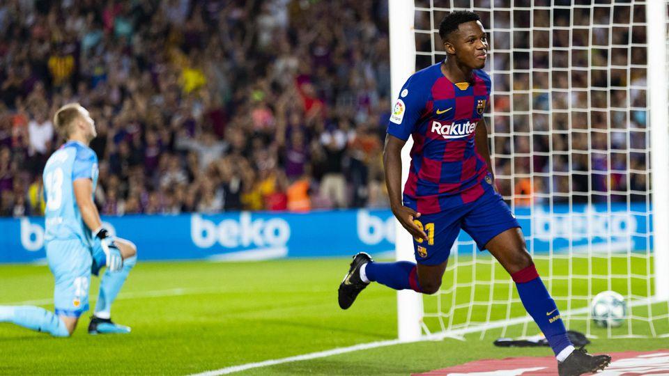 Ansu Fati FC Barcelona Barca Jubelt nach den Tor zum 1 0 14 09 2019 xslx Fussball La Liga FC B