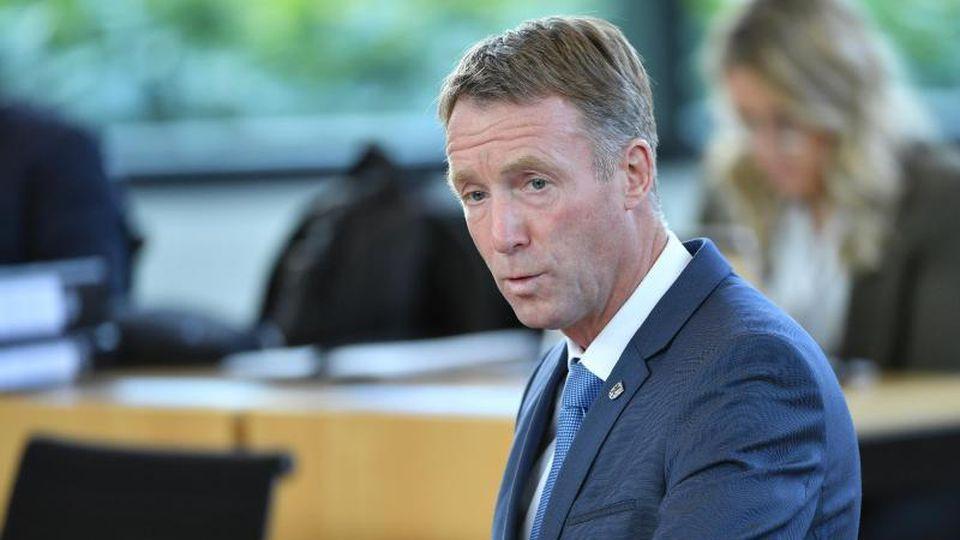 Raymond Walk (CDU) spricht im Landtag. Foto: Martin Schutt/dpa-Zentralbild/dpa/Archivbild