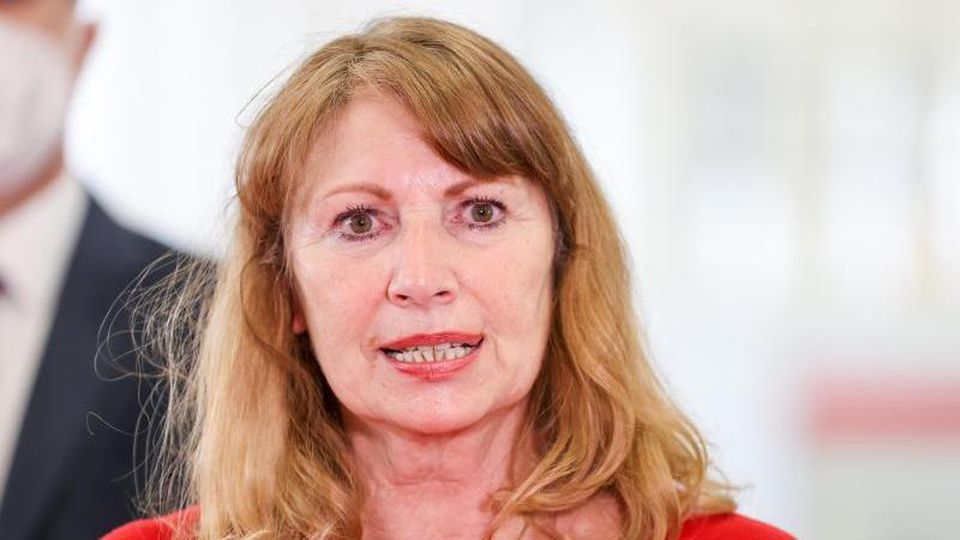 Petra Köpping (SPD), Gesundheitsministerin von Sachsen, spricht. Foto: Jan Woitas/dpa-Zentralbild/dpa