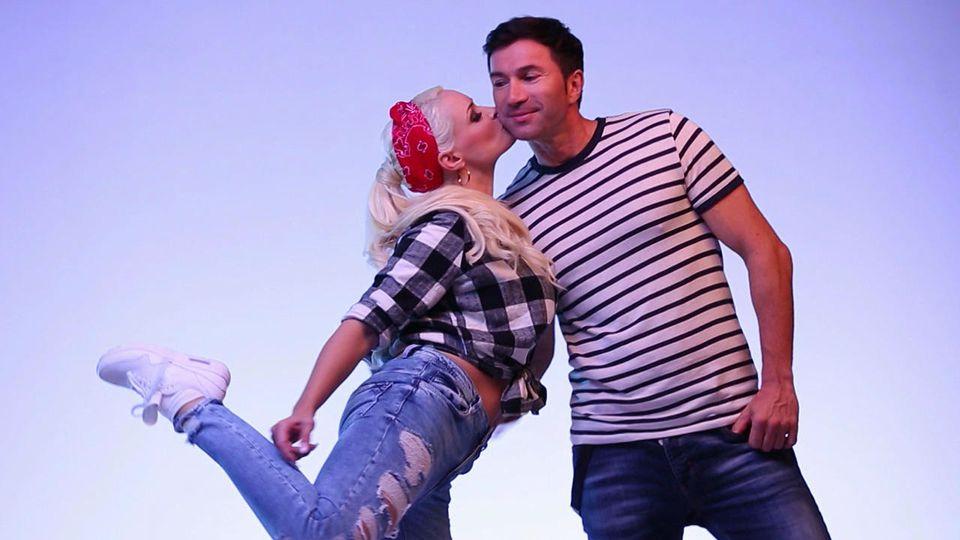 "Ganz verliebt zeigen sich Daniela Katzenberger und Lucas Cordalis bei den ""Dance Dance Dance""-Proben"