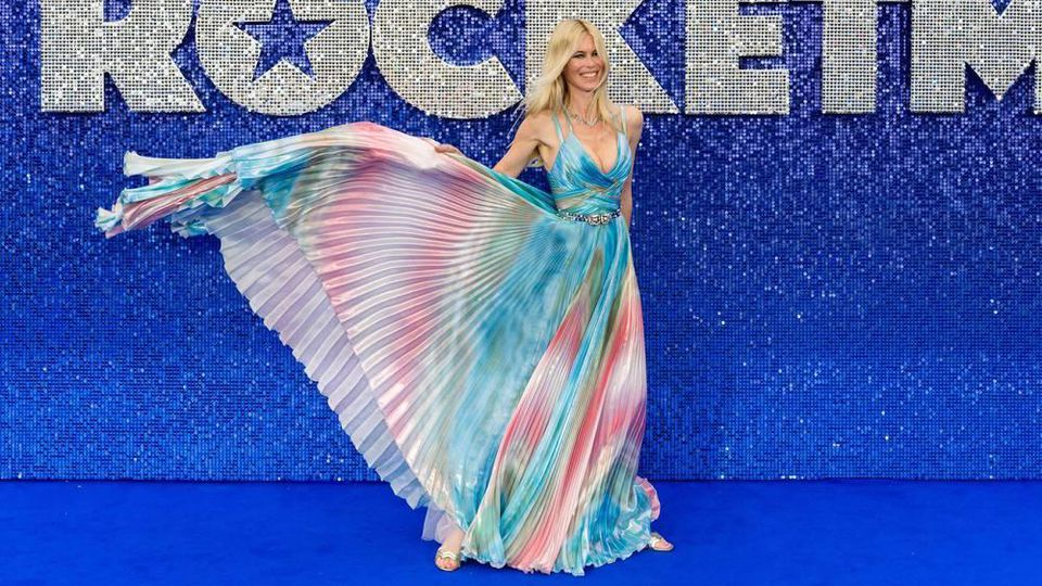 "Claudia Schiffer bei der UK-Premiere des Films ""Rocketman"" in London"