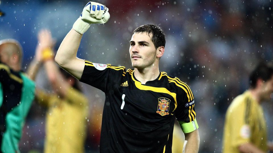 Torwart Iker Casillas (Spanien) - Schlußjubel - PUBLICATIONxNOTxINxFRAxITA (pan26627)