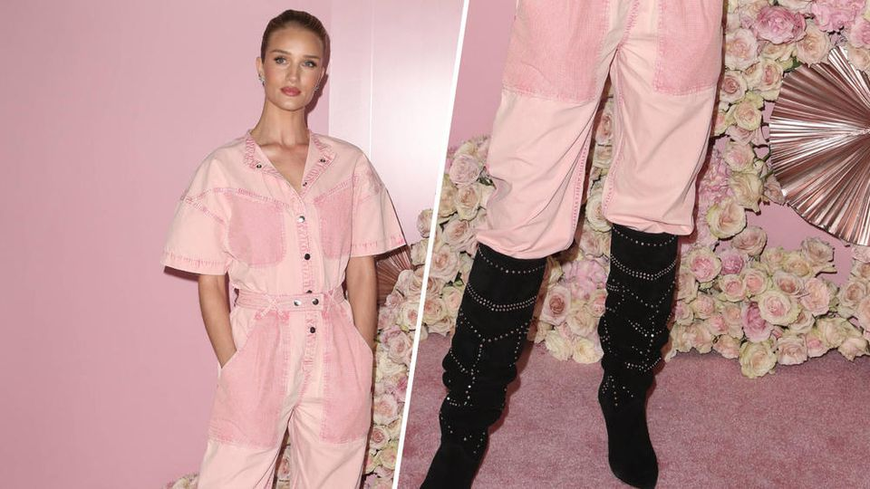 Model und Schauspielerin Rosie Huntington-Whiteley liebt die angesagten 70ies-Stiefel