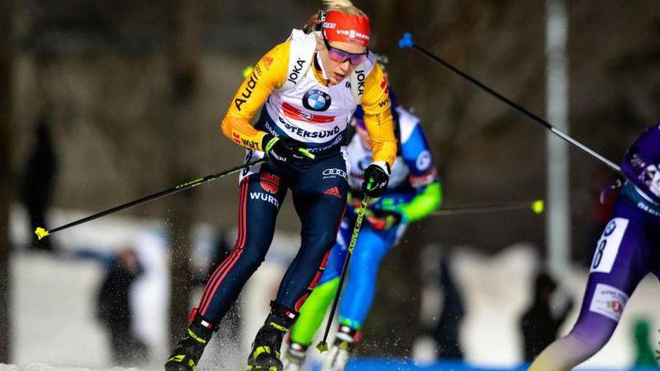 Die deutschen Biathletinnen haben zum Abschluss des Auftakt-Weltcups in Östersund mit der Staffel das Podium knapp verpasst. Foto: Johan Axelsson/Bildbyran via ZUMA Press