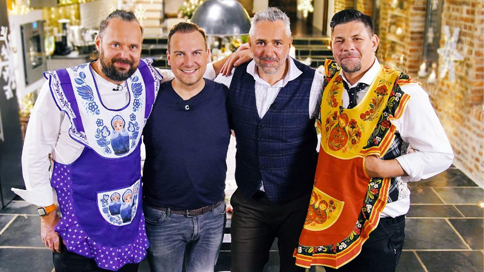 V.l.: Mario Lohninger, Tim Raue, Roland Trettl und Tim Mälzer.