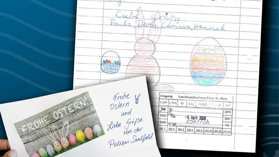 Die Polizei in Thüringen antwortete zuckersüß auf den Brief besorgter Kinder, die fürchtete, dass der Osterhase wegen Corona nicht richtig arbeiten kann.