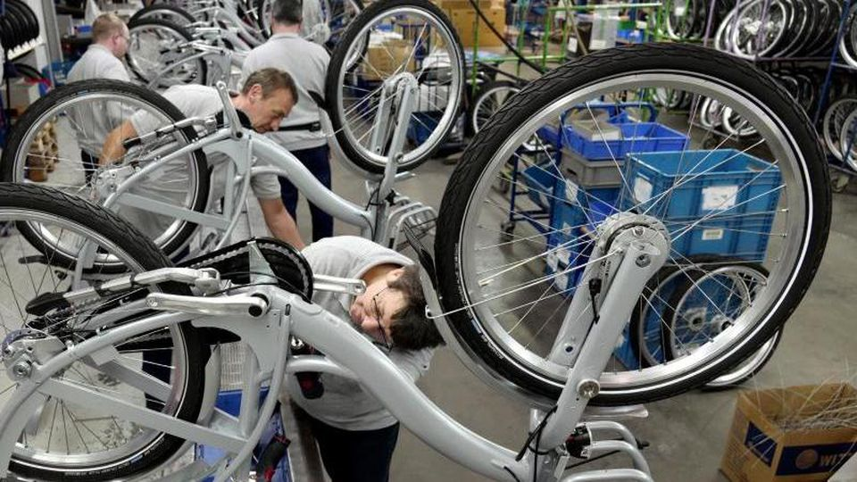Produktion beim Fahrradhersteller Sachsenring Bike Manufaktur GmbH. Foto:Peter Endig