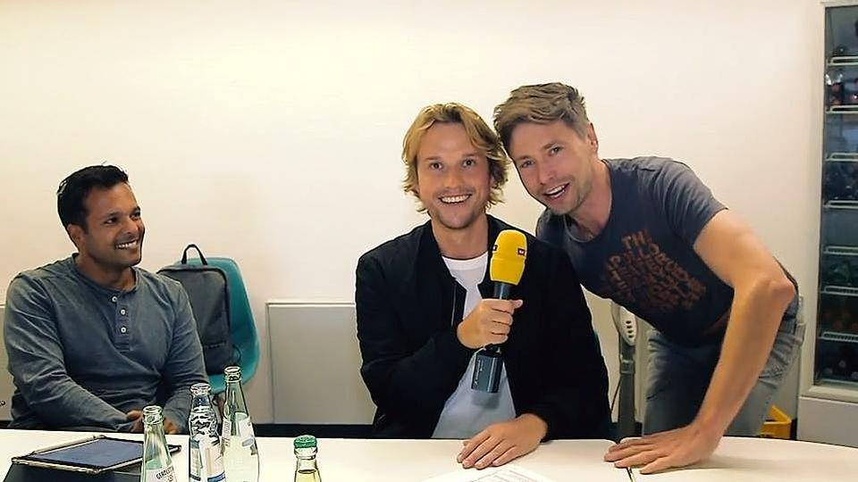 Christopher Kohn zusammen mit AWZ-Producer Andreas Stenschke.