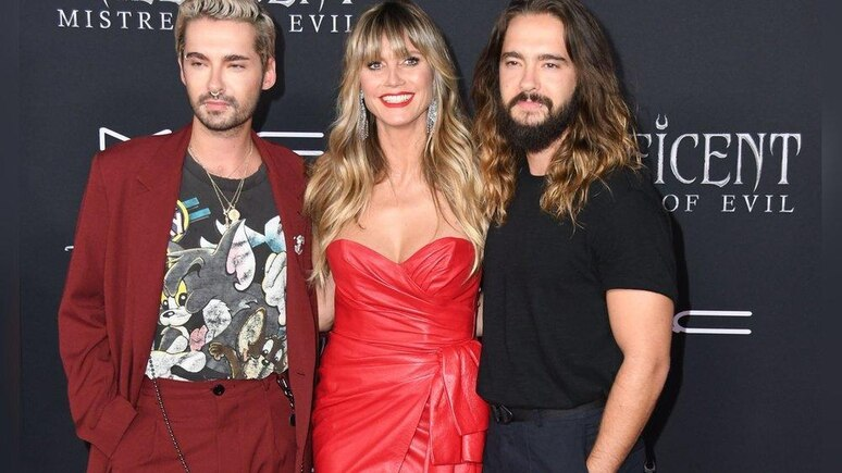 Bill Kaulitz, Heidi Klum und Tom Kaulitz (v.l.n.r.)