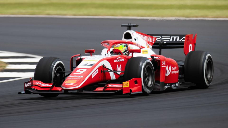 2019 Silverstone Circuit GBR JULY 12 Mick Schumacher DEU PREMA RACING on July 12 2019 in Si
