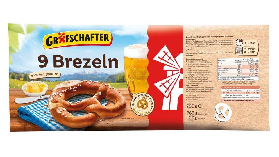 """Discounter Lidl ruft """"9 Brezeln zum Fertigbacken"""" in der 785 g-Packung zurück."""