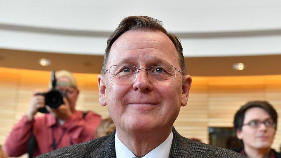 """""""Auch eine Vereinbarung für Neuwahlen müssen wir zusammen treffen"""", betont Ramelow. Foto: Martin Schutt/dpa-Zentralbild/dpa"""