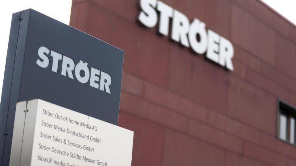 Der Sitz des Medienunternehmens Ströer. Foto: Oliver Berg/dpa/Archivbild