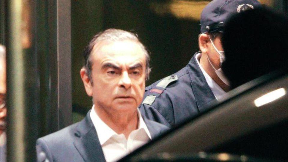 Es ist bereits das zweite Mal, dass Ghosn auf Kaution aus der Untersuchungshaft freikommt. Foto: Eugene Hoshiko/AP
