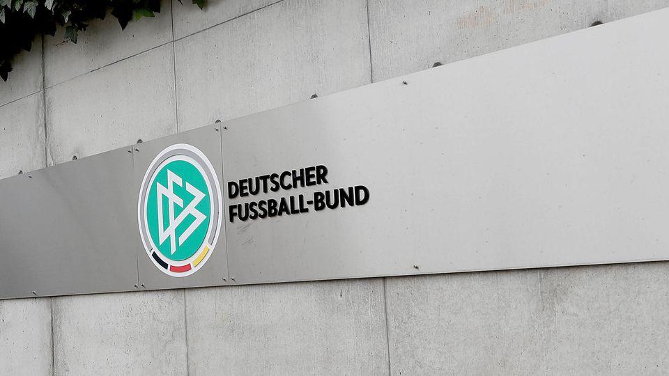 Fußball - DFB - Deutscher Fussball Bund Logo am 12.03.2020 beim DFB in Frankfurt Logo des DFB / Deutschen Fussball Bund