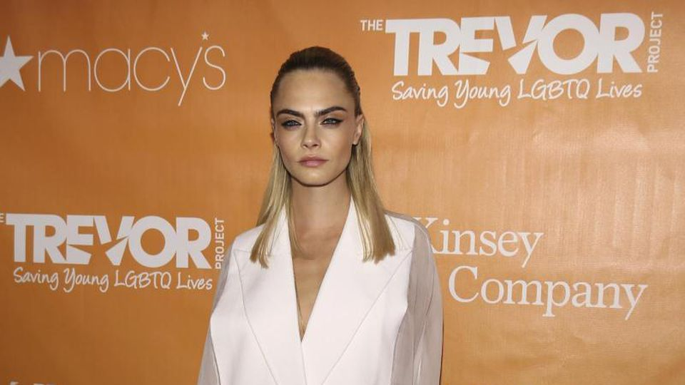 "Cara Delevingne bei der Gala der Hilfsorganisation ""Trevor Project"" in New York. Foto: Donald Traill/Invision"