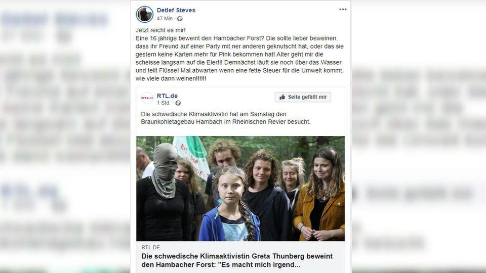 Greta Thunberg am Tagebau Hambach
