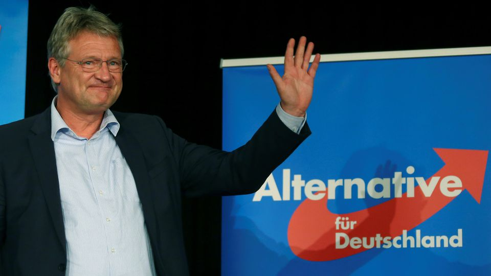 Joerg Meuthen, candidate of Germany's anti-immigration party Alternative for Germany (AfD) attends a final campaign event ahead of the EU election in Frankfurt, Germany May 24, 2019.   REUTERS/Ralph Orlowski