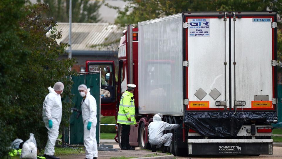 39 Leichen in Kühllaster bei London entdeckt