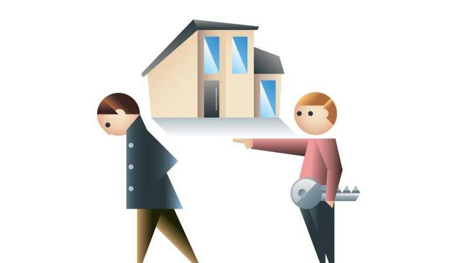 Wenn der Vermieter das Haus selbst nutzen will, muss der Mieter oft ausziehen. Für Eigenbedarfskündigungen gibt es viele Gründe. Foto: dpa-infografik