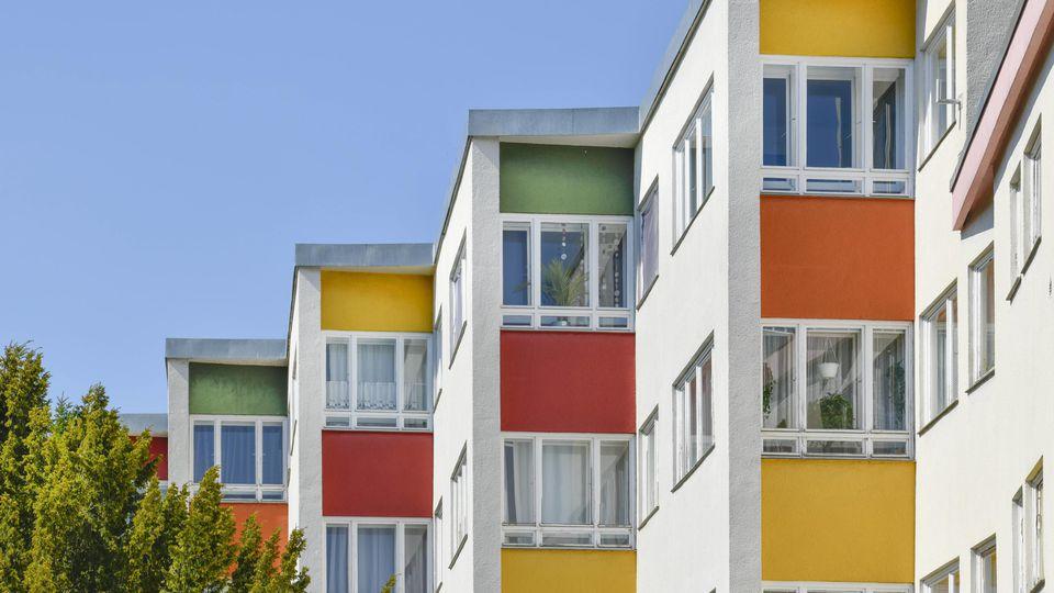 Wohnbauten von Hans Scharoun Ostabschluß Goebelstraße Großsiedlung Siemensstadt Spandau Berlin