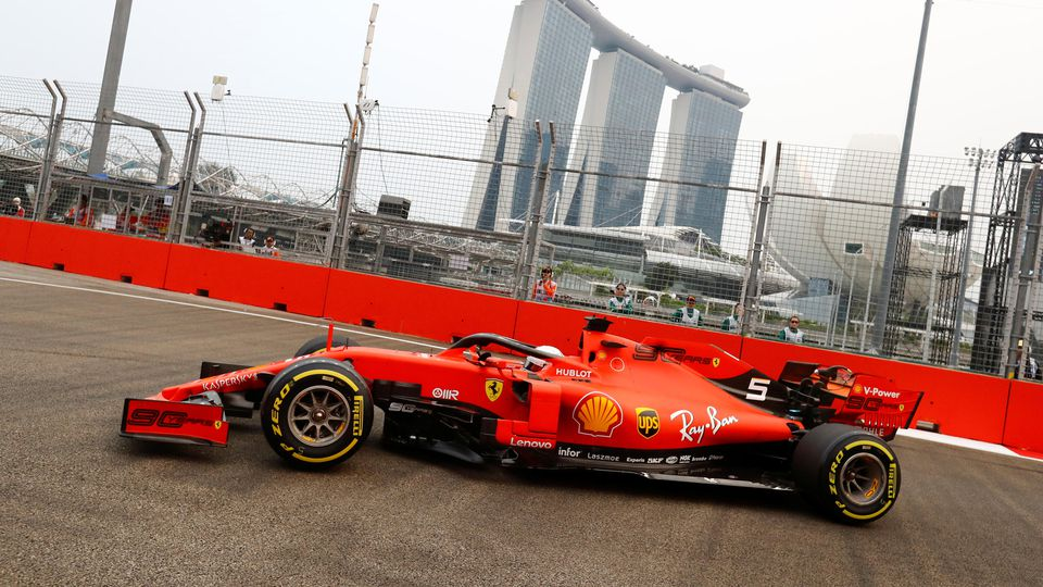 Formula One F1 - Singapore Grand Prix - Marina Bay Street Circuit, Singapore - September 20, 2019  Ferrari's Sebastian Vettel during practice   REUTERS/Thomas Peter