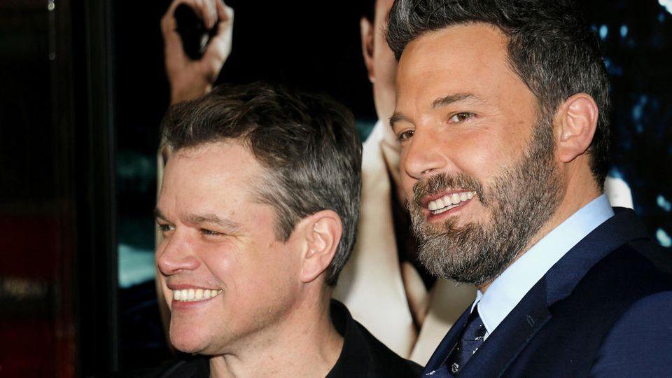 Matt Damon (l.) und Ben Affleck arbeiten an einem neuen Film