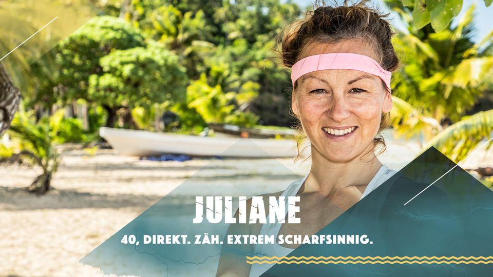 """Juliane stellt sich bei """"Survivor"""" 2019 dem härtesten Spiel der Welt."""