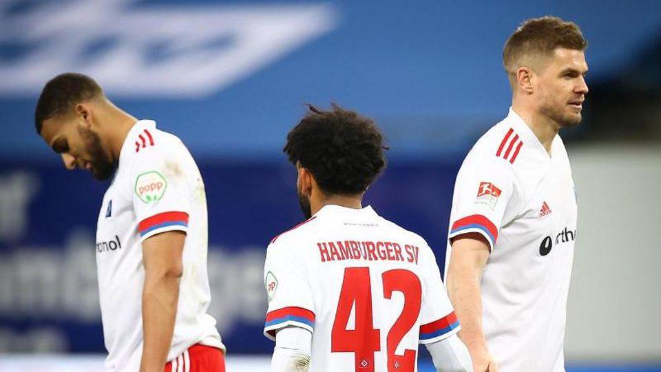 Die HSV-Profis mussten sich gegen Kiel erneut nur mit einem Punkt zufrieden geben. Foto: Christian Charisius/dpa