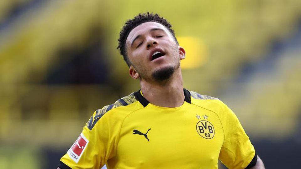 Bleibt in der kommenden Saison definitiv beim BVB: Jadon Sancho. Foto: Lars Baron/Getty Images Europe/Pool/dpa
