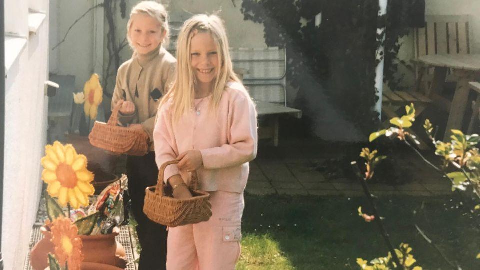 Die Pahde Zwillinge feiern Ostern