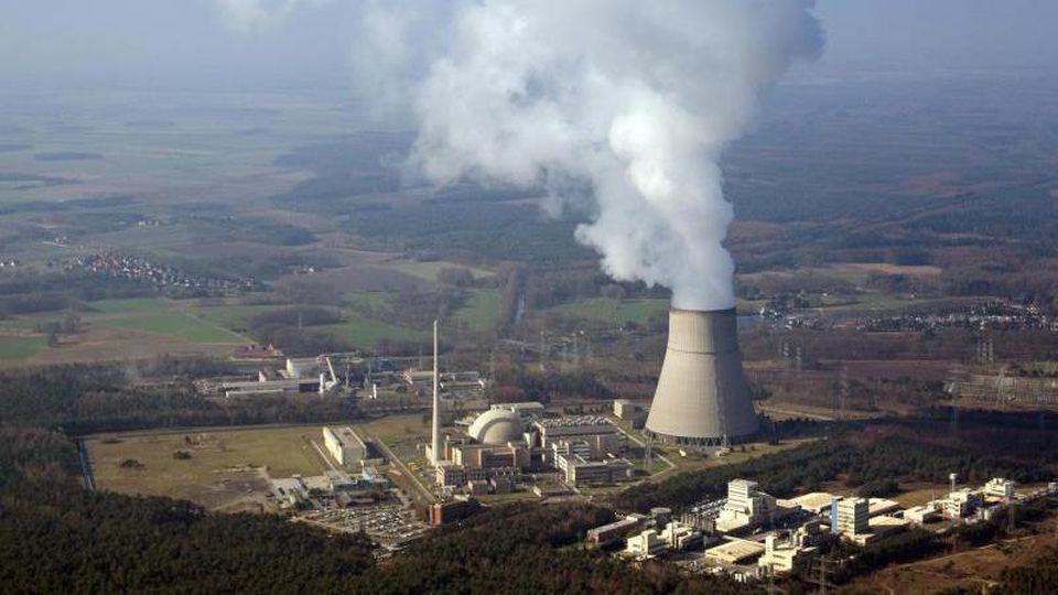Luftbild vom Kernkraftwerk Emsland (KKE). Foto: picture alliance / Friso Gentsch/dpa/Archivbild