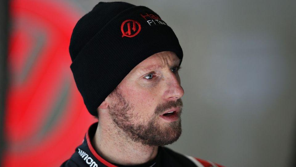 Haas-Pilot Romain Grosjean