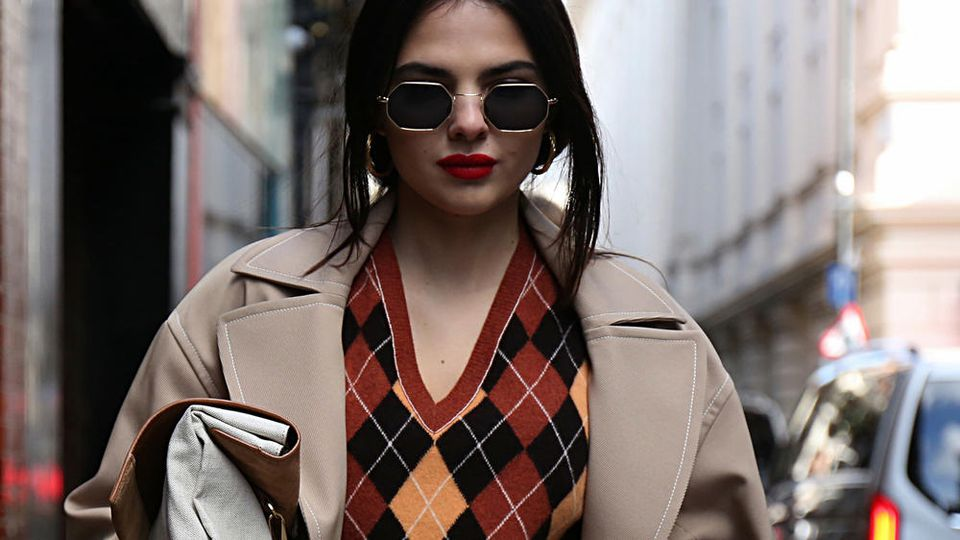 Model Doina Ciobanu im Rahmen der London Fashion Week.