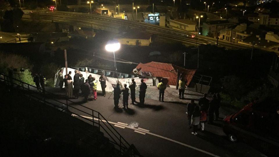 Unfallort des Bus-Unglücks auf Madeira