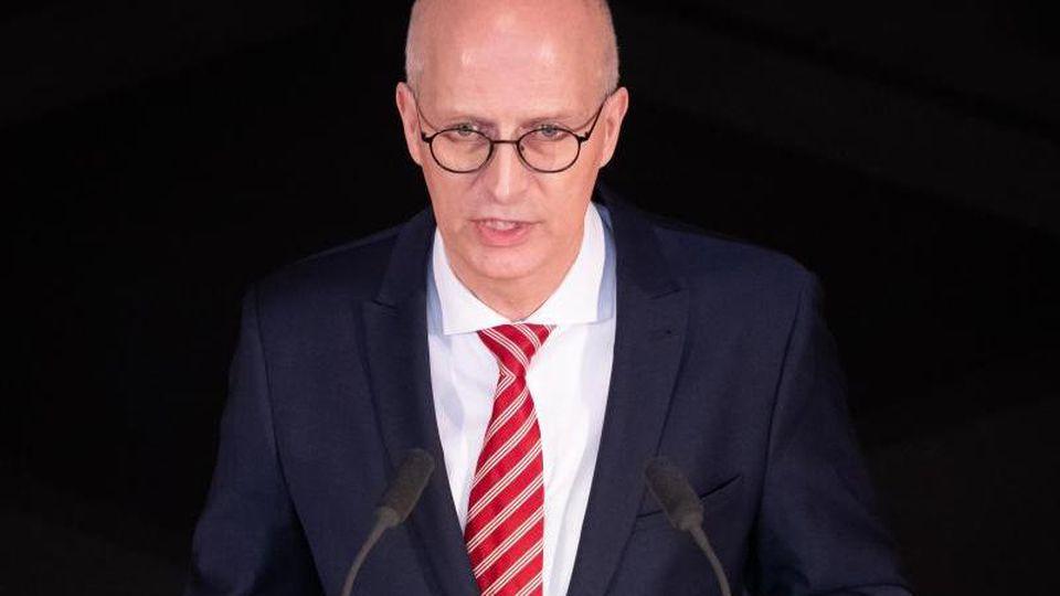 Peter Tschentscher (SPD), Erster Bürgermeister in Hamburg, spricht. Foto: Christian Charisius/dpa