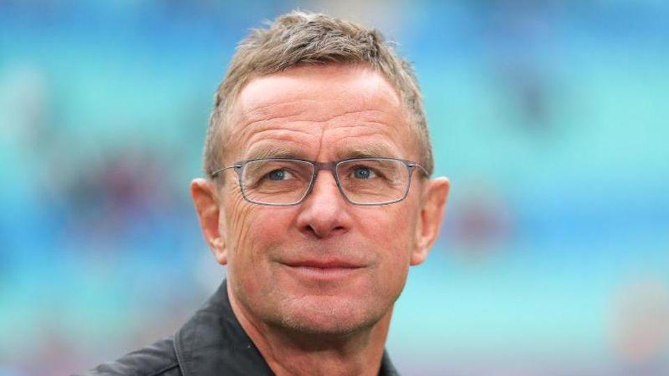 RBLeipzigs Trainer und Sportdirektor Ralf Rangnick kommt ins Stadion. Foto: Jan Woitas/Archivbild