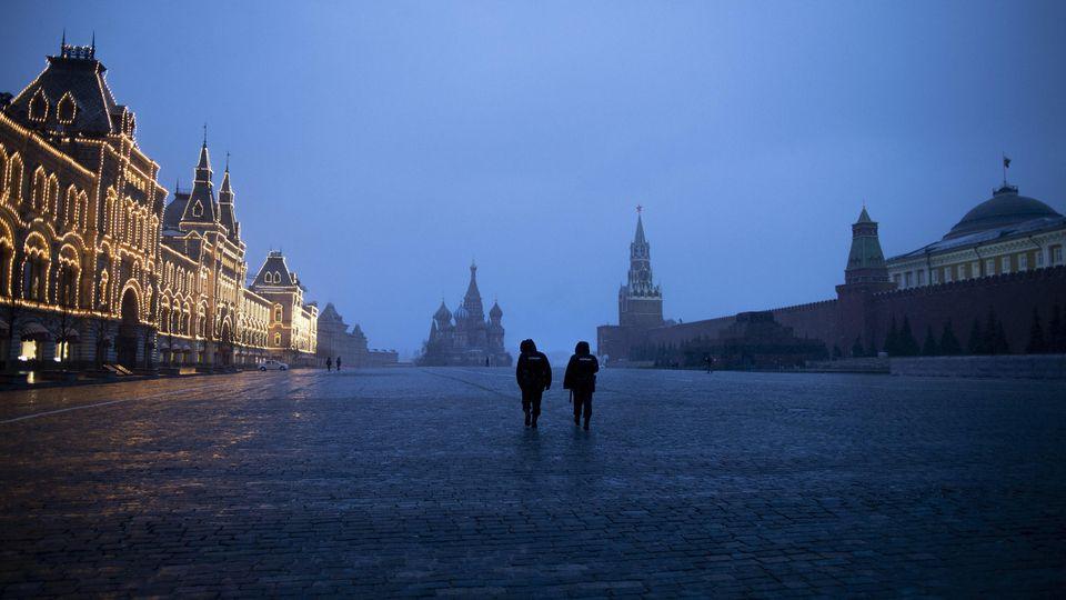 In Moskau gelten seit Montag strenge Ausgangssperren.