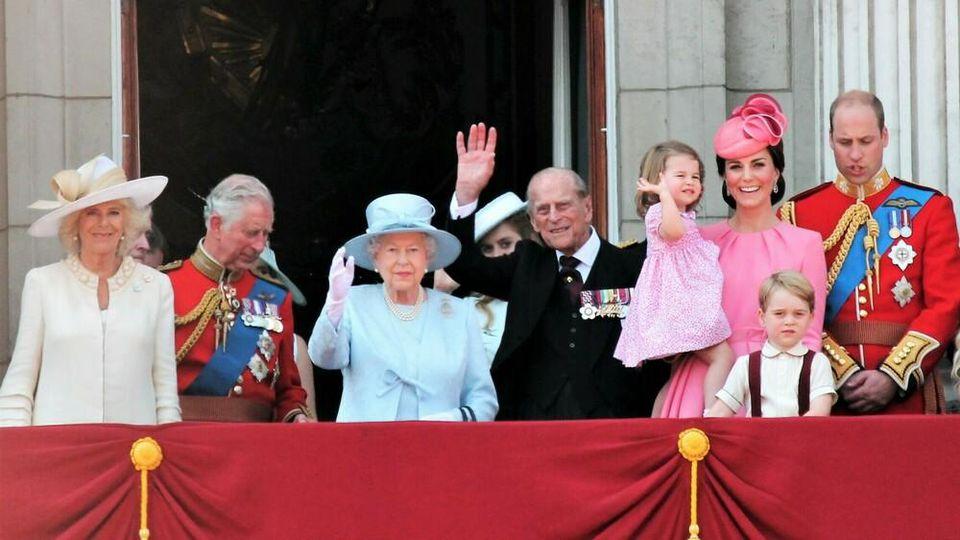 Die britische Königsfamilie im Juni 2017.