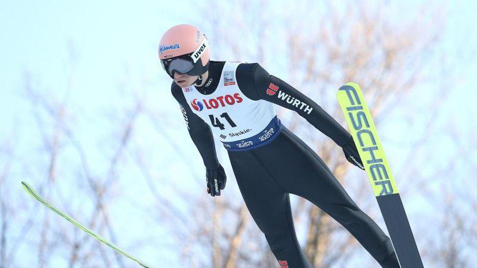 Zweiter beim Weltcup in Nischni Tagil: Karl Geiger aus Deutschland. Foto: Damian Klamka/ZUMA Wire/dpa