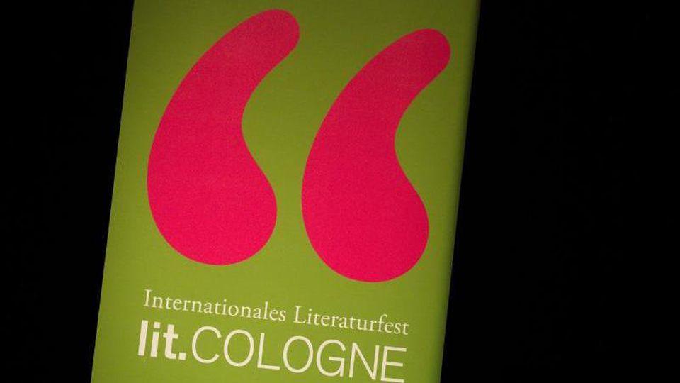 Das Logo des Literaturfestivals Lit.Cologne. Foto: Rolf Vennenbernd/dpa/Symbolbild