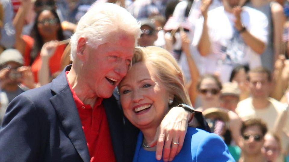 Hillary Clinton hat ihrem Mann Bill Clinton einen süßen Geburtstagsgruß gewidmet
