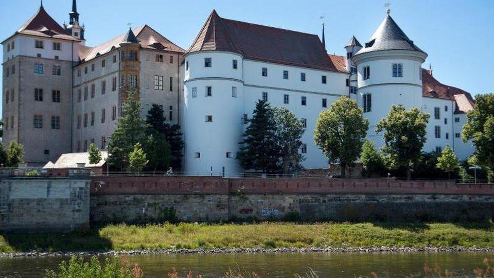 Blick auf das Schloss Hartenfels. Foto: Monika Skolimowska/dpa-Zentralbild/ZB