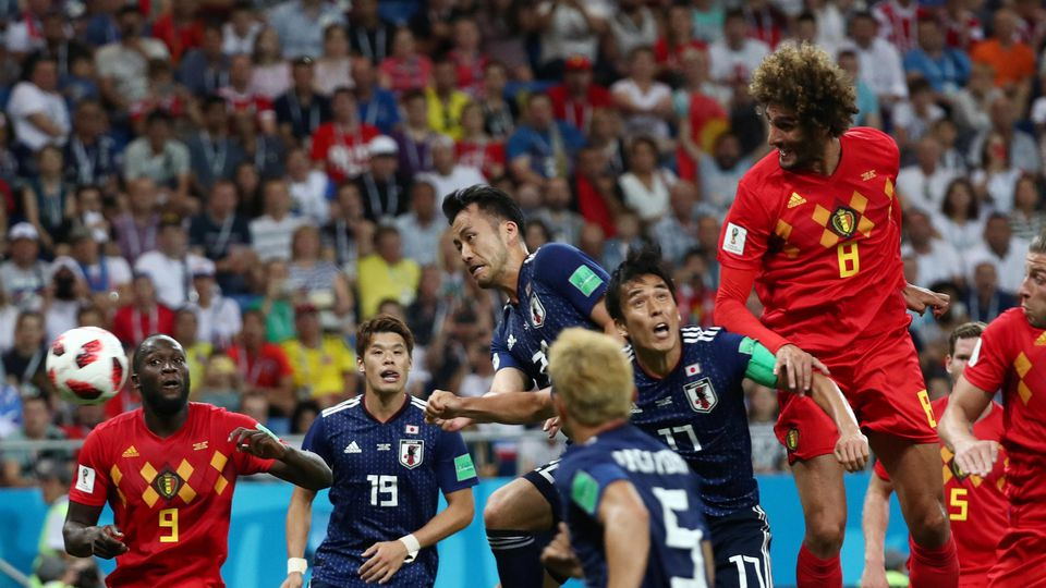Soccer Football - World Cup - Round of 16 - Belgium vs Japan - Rostov Arena, Rostov-on-Don, Russia - July 2, 2018  Belgium's Marouane Fellaini scores their second goal             REUTERS/Sergio Perez
